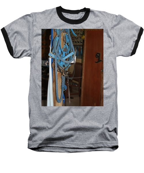 Baseball T-Shirt featuring the painting Stuff In The Barn by Roena King