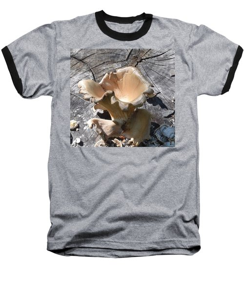 Baseball T-Shirt featuring the photograph Stump Mushroom I by R  Allen Swezey