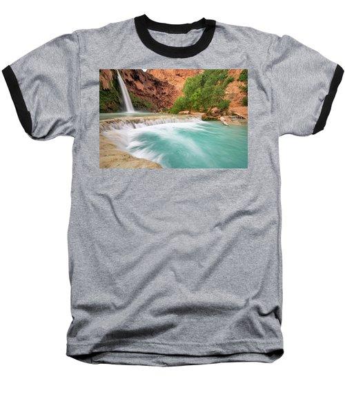 Stunning Havasu Falls Baseball T-Shirt by Serge Skiba