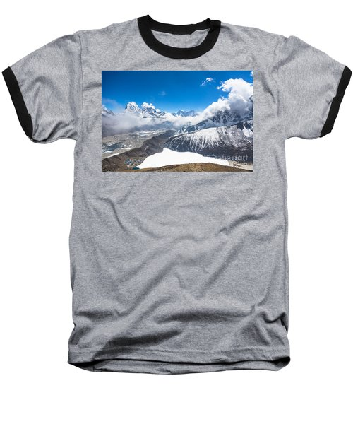 Stunning Panorama Over Gokyo In Nepal Baseball T-Shirt