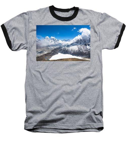 Stunning Panorama Over Gokyo In Nepal Baseball T-Shirt