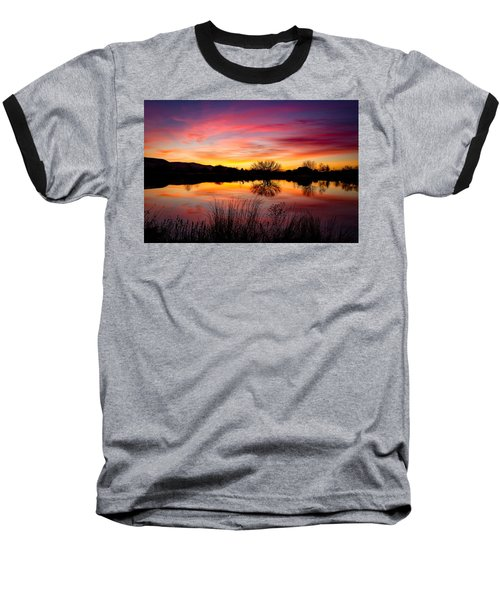 Stunning Pink Sunset Baseball T-Shirt