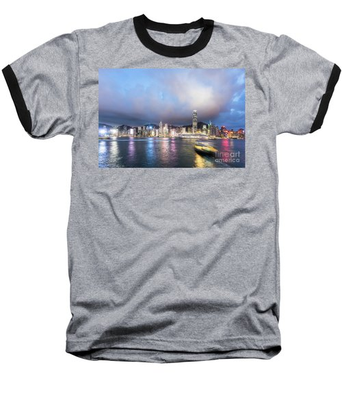 Stunning View Of Hong Kong Island At Night.  Baseball T-Shirt