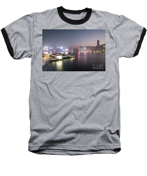Stunning View Of The Twilight Over The Victoria Harbor And Star  Baseball T-Shirt