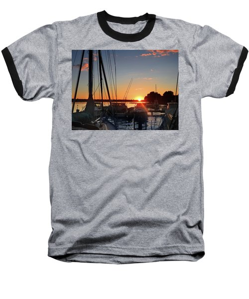 Sturgeon Bay Sunset Baseball T-Shirt