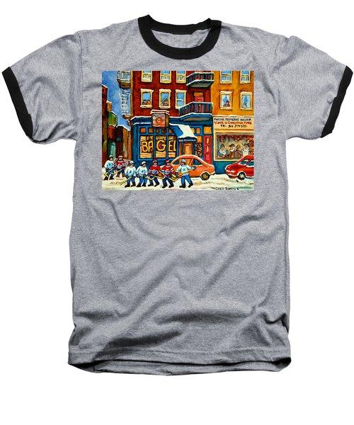 St.viateur Bagel Hockey Montreal Baseball T-Shirt