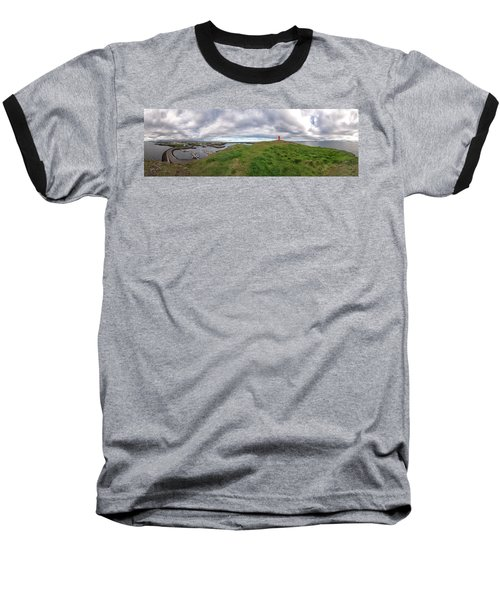 Stykkisholmur Harbor Pano Baseball T-Shirt
