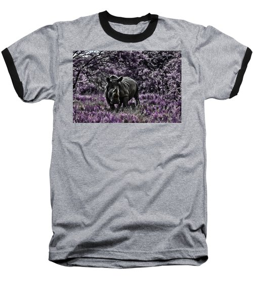 Styled Environment-the Modern Trendy Rhino Baseball T-Shirt by Douglas Barnard