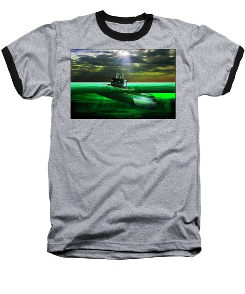 Baseball T-Shirt featuring the painting Submarine by Michael Cleere
