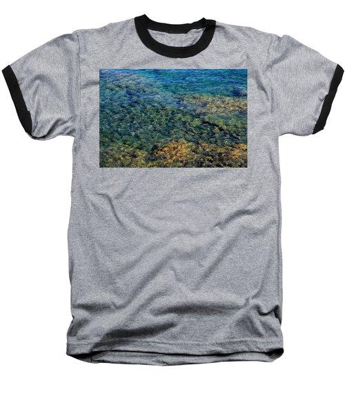 Submerged Rocks At Lake Superior Baseball T-Shirt