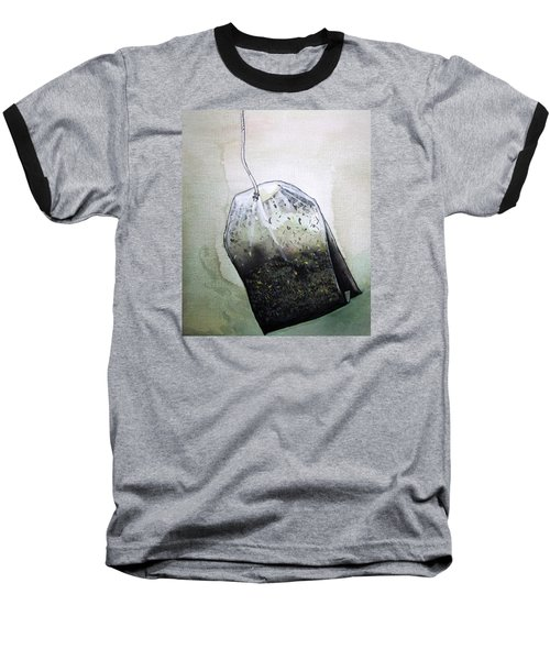 Baseball T-Shirt featuring the painting Submerged Tea Bag by Mary Ellen Frazee