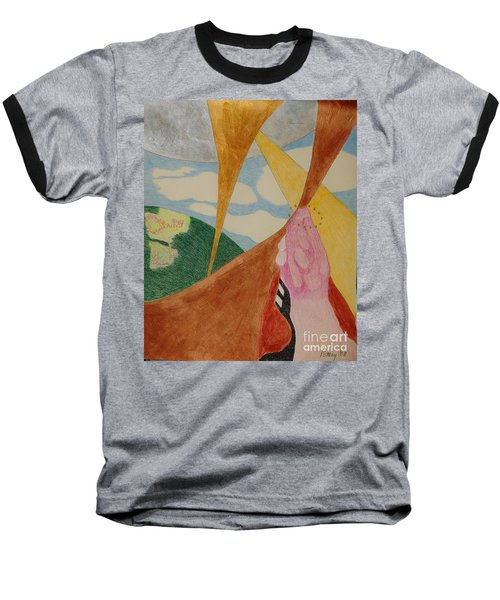 Baseball T-Shirt featuring the drawing Subteranian  by Rod Ismay
