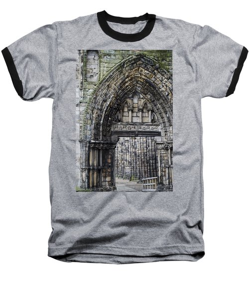 Baseball T-Shirt featuring the photograph Subtle Shades Of Stone Holyrood Edinburgh Scotland by Sally Ross