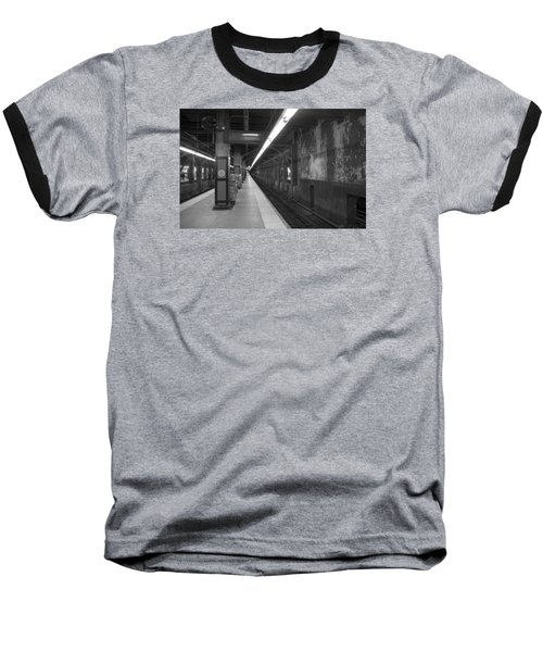 Subway At Grand Central Baseball T-Shirt by Allen Carroll