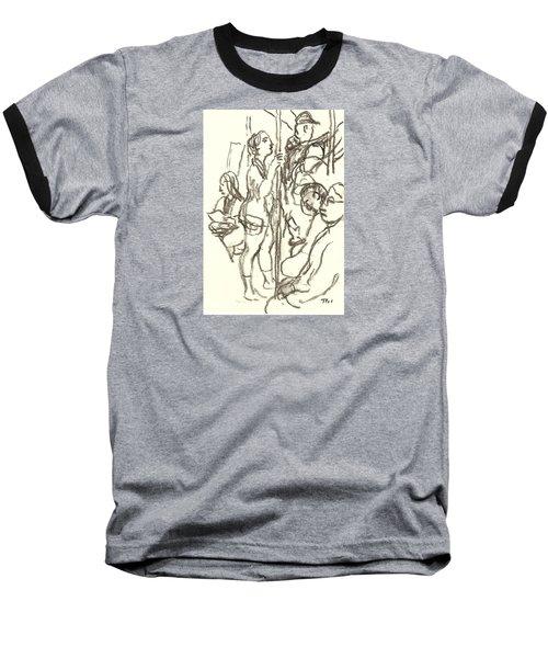 Subway Composition, Nyc Baseball T-Shirt