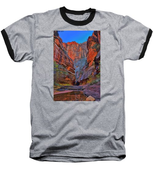 Subway Entrance Baseball T-Shirt by Greg Norrell