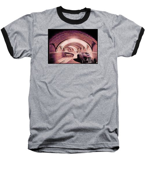 Baseball T-Shirt featuring the photograph Subway Racer by Michael Cleere