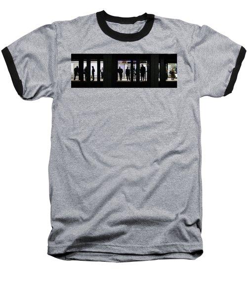 Subway Stories Baseball T-Shirt by Art Shimamura