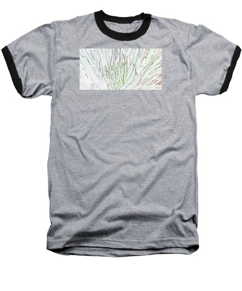 Succulent Leaves In High Key Baseball T-Shirt by Nareeta Martin