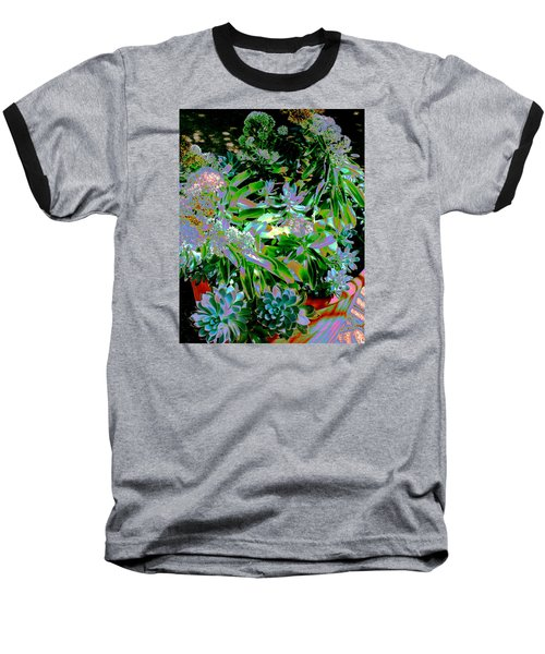 Baseball T-Shirt featuring the photograph Succulent Pot by M Diane Bonaparte
