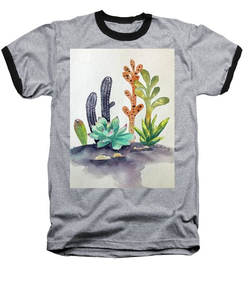 Succulents Desert Baseball T-Shirt