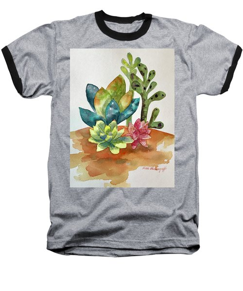 Succulents Baseball T-Shirt
