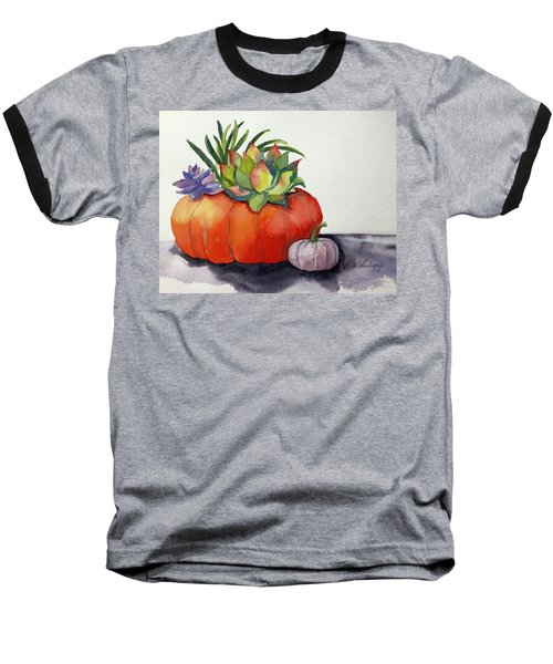 Succulents In Pumpkin Baseball T-Shirt