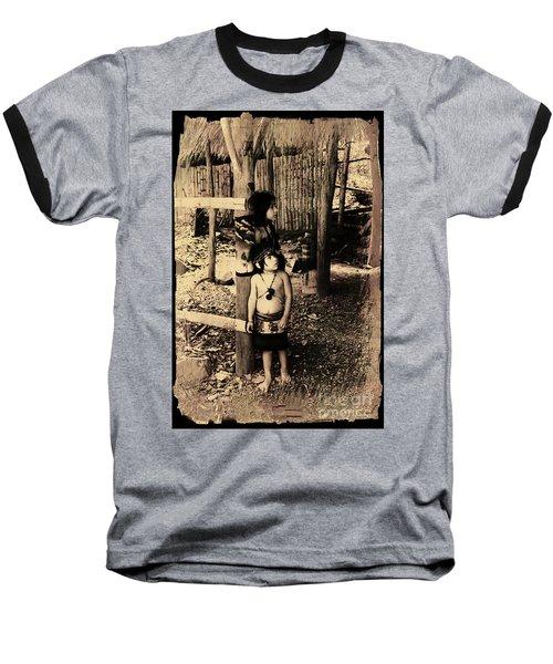 Baseball T-Shirt featuring the photograph Sucua Kids 895 by Al Bourassa