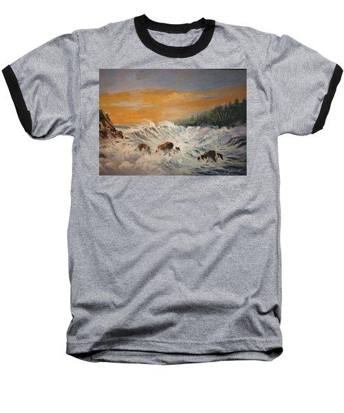 Sudden Turbulence At Suset Baseball T-Shirt