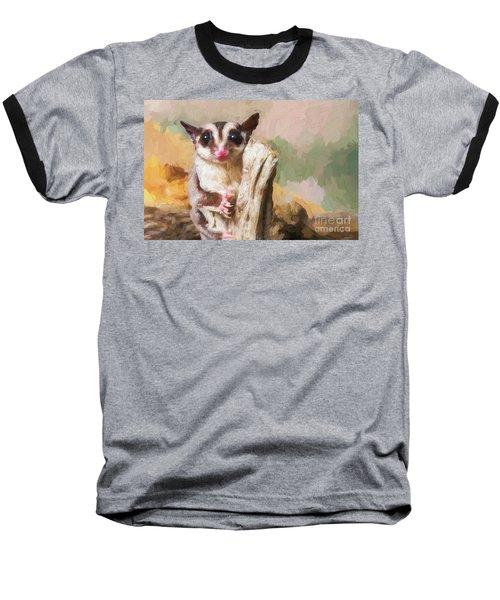 Sugar Glider - Painterly Baseball T-Shirt