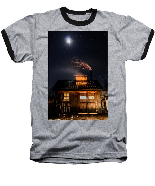 Sugar House At Night Baseball T-Shirt by Tim Kirchoff
