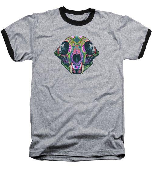 Sugar Lynx  Baseball T-Shirt by Nelson dedos Garcia