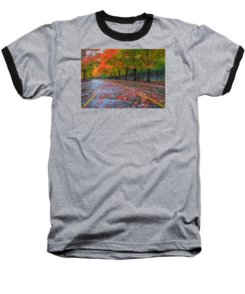 Baseball T-Shirt featuring the photograph Sugar Maple Drive by Ken Stanback