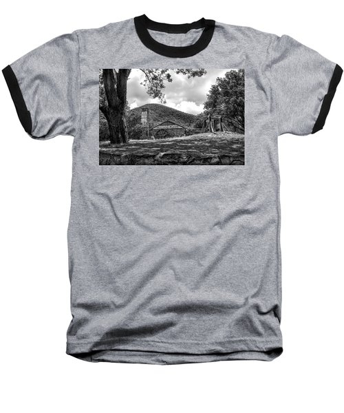 Sugar Plantation Ruins Bw Baseball T-Shirt