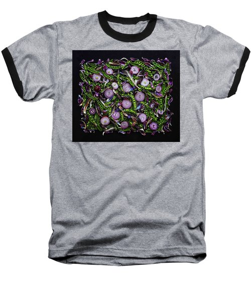 Sugar Snap Peas And Red Onion Mix Baseball T-Shirt