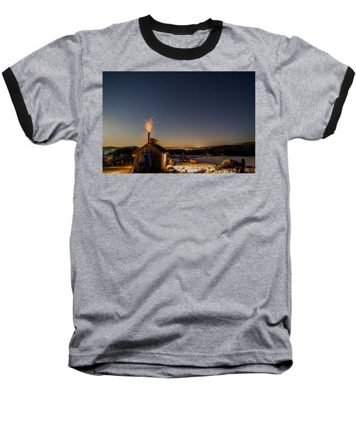 Sugaring View With Stars Baseball T-Shirt