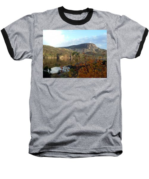 Sugarloaf Hill In Autumn Baseball T-Shirt by Barbara Griffin