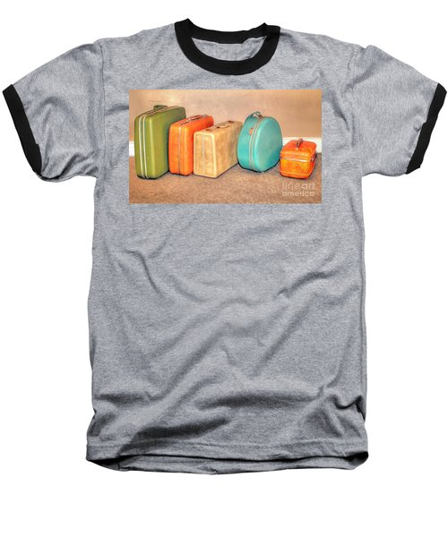 Suitcases Baseball T-Shirt by Marion Johnson