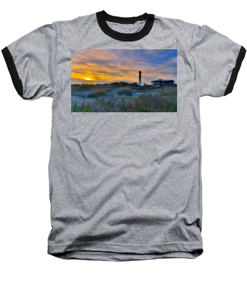 Sullivan's Island Lighthouse At Dusk - Sullivan's Island Sc Baseball T-Shirt