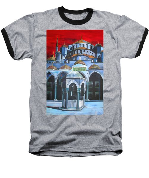 Sultan Ahmed Mosque Istanbul Baseball T-Shirt