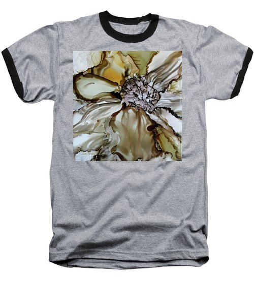 Baseball T-Shirt featuring the painting Sultry Petals by Joanne Smoley