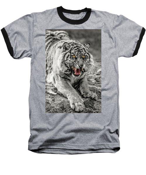 Sumatran Tiger Bw W With Selective Color Baseball T-Shirt
