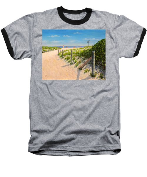 Baseball T-Shirt featuring the painting Summer 12-28-13 by Joe Bergholm