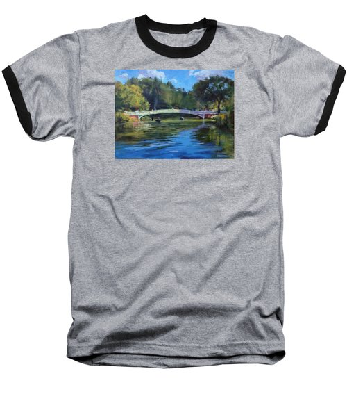 Summer Afternoon On The Lake, Central Park Baseball T-Shirt