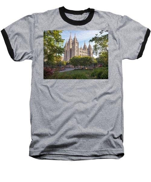 Summer At Temple Square Baseball T-Shirt