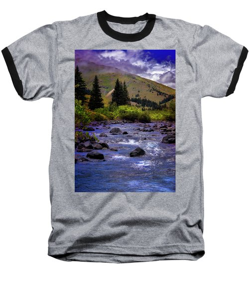 Baseball T-Shirt featuring the photograph Summer At The Animas River by Ellen Heaverlo
