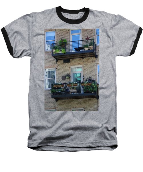 Summer Balconies In Chicago Illinois Baseball T-Shirt