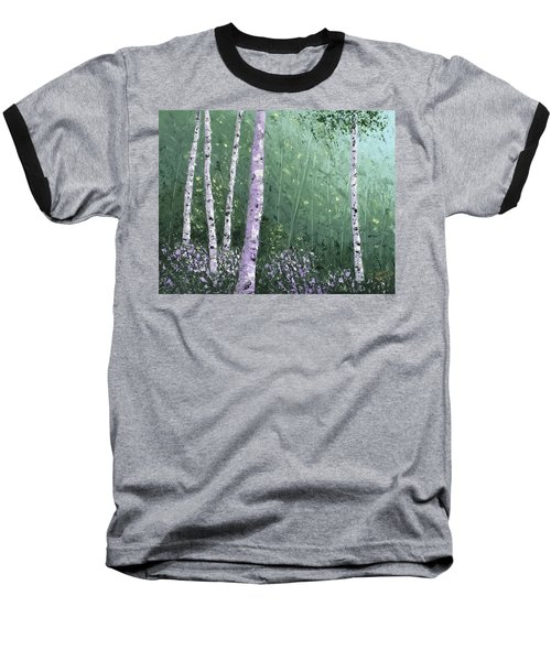 Summer Birch Trees Baseball T-Shirt