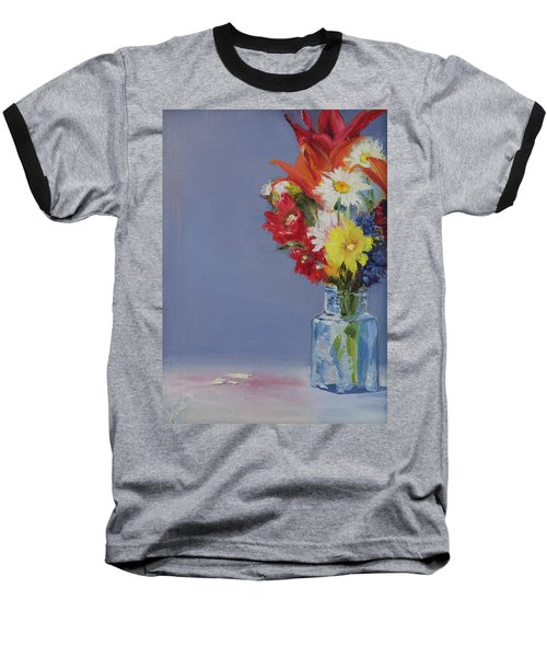 Summer Bouquet Baseball T-Shirt by Jane Autry