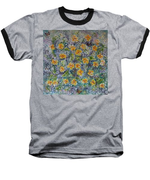 Spring Bouquet Baseball T-Shirt by Theresa Marie Johnson